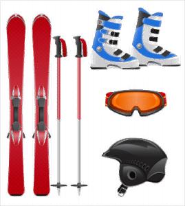 stockage matériel de ski
