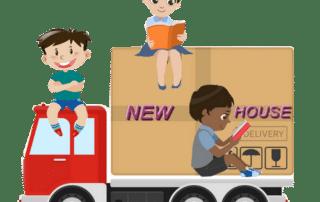 comment déménager avec des enfants