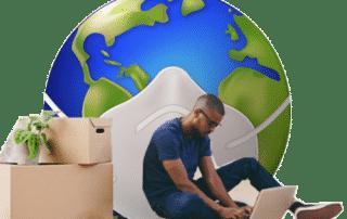 confinement et déménagement