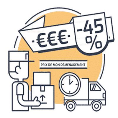 estimation de prix correspondant au volume du déménagement