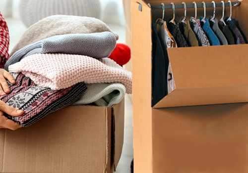 emballer ses vêtements pour déménager